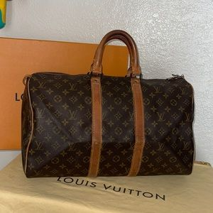 Authentic Louis Vuitton vintage keepall 45 duffle